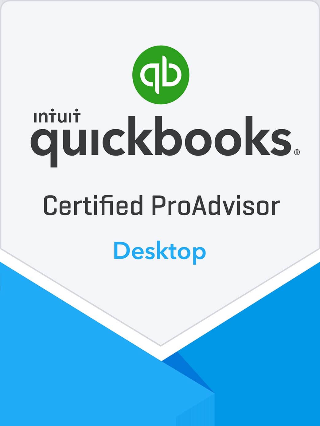 Certified QuickBooks Desktop ProAdvisor Badge